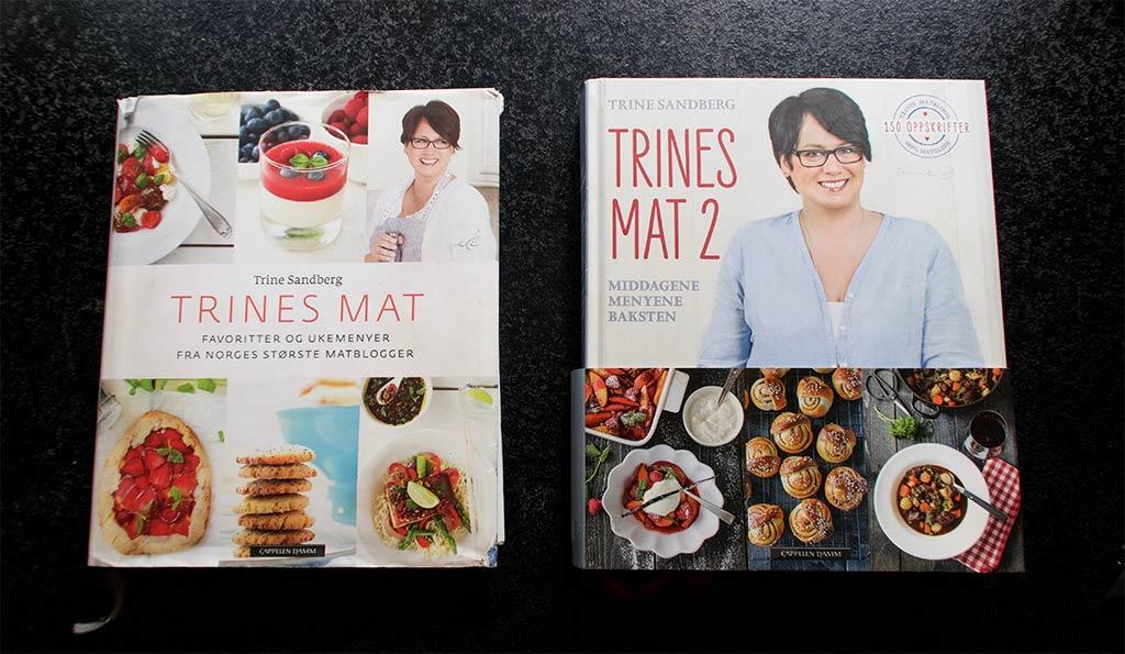 De to første bøkene til Trine Sandberg bak Trines Matblogg. Begge ble bestselgere. FOTO: ROBERT W. SHAW, INKUBATOREN.NO